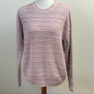 Lucky Brand Marled Striped Sweater Large New